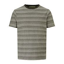 Buy Kin by John Lewis Micro Painted Stripe T-Shirt, Khaki Online at johnlewis.com
