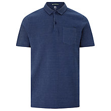 Buy Kin by John Lewis Pique Cotton Pocket Polo Shirt, Navy Online at johnlewis.com