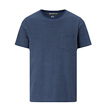 Buy Kin by John Lewis Pique Cotton Crew T-Shirt, Navy Online at johnlewis.com