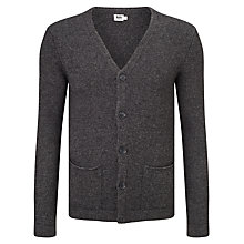 Buy Kin by John Lewis Chunky Roll Edge Cardigan, Charcoal Online at johnlewis.com