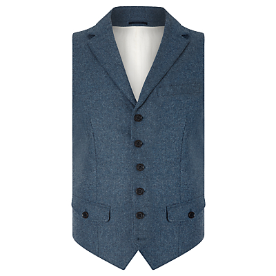 JOHN LEWIS  Co. Abraham Moon Collared Waistcoat £99.00 AT vintagedancer.com