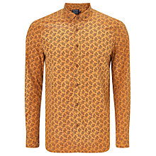 Buy John Lewis Long Sleeved Geo Flower Print Shirt, Gold Online at johnlewis.com