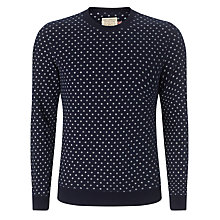 Buy JOHN LEWIS & Co. Ethnic Circles Jumper, Navy Online at johnlewis.com