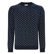 Buy JOHN LEWIS & Co. Ditsy Berry Sweatshirt, Navy Online at johnlewis.com