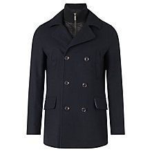 Buy John Lewis 2 in 1 Double Breasted Peacoat, Navy Online at johnlewis.com