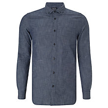 Buy JOHN LEWIS & Co. Chambray Dot Shirt, Indigo Online at johnlewis.com