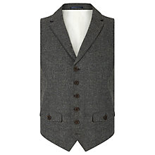 Buy JOHN LEWIS & Co. Abraham Moon Collared Waistcoat, Charcoal Online at johnlewis.com
