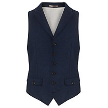 Buy JOHN LEWIS & Co. Abraham Moon Wool Waistcoat, Navy Melange Online at johnlewis.com
