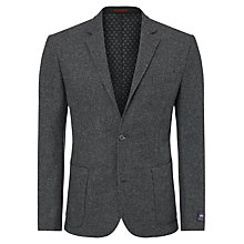 Buy JOHN LEWIS & Co. Printed Abraham Moon Wool Blazer, Charcoal Online at johnlewis.com