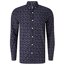 Buy JOHN LEWIS & Co. Geo Flower Print Long Sleeve Shirt, Navy Online at johnlewis.com