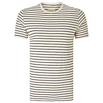 JOHN LEWIS  Co. Slub Stripe Crew Neck T-Shirt £25.00 AT vintagedancer.com