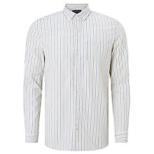 Buy JOHN LEWIS & Co. Vintage Stripe Pointed Collar Shirt, Cobalt Blue Online at johnlewis.com