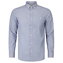 Buy JOHN LEWIS & Co. Fine Stripe Cotton Shirt, Blue Online at johnlewis.com