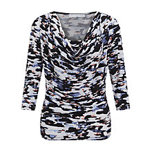 Buy John Lewis Capsule Collection Sky Print Jersey Top, Blue Online at johnlewis.com
