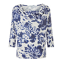 Buy John Lewis Capsule Collection Print Jersey Top, Cream/Blue Online at johnlewis.com