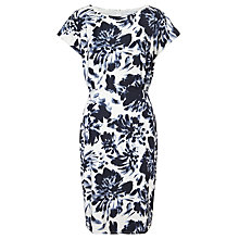 Buy John Lewis Capsule Collection Print Jersey Dress, Cream/Blue Online at johnlewis.com