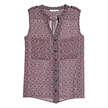 Buy Mango Geometric Print Blouse, Rose Garland Online at johnlewis.com