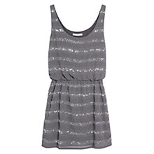 Buy Mango Bead Embroidery Dress, Grey Online at johnlewis.com