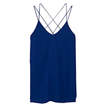 Buy Mango Strap Dress, Medium Blue Online at johnlewis.com