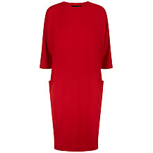 Buy Jaeger Seam Detail Dress, Haute Red Online at johnlewis.com