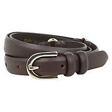 Buy Hobbs Wentworth Belt, Chocolate Online at johnlewis.com