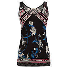 Buy Oasis Oriental Pop Print Vest, Multi/Black Online at johnlewis.com