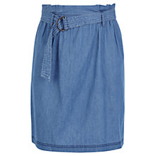 Buy Oasis Paper Bag Waist Skirt, Denim Online at johnlewis.com