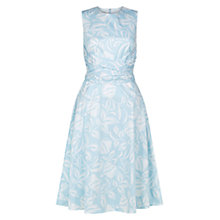 Buy Hobbs Ivy Twitchill Cotton Dress, Blue Boquet Online at johnlewis.com