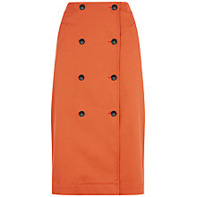 Buy Jaeger Trench Skirt, Paprika Online at johnlewis.com