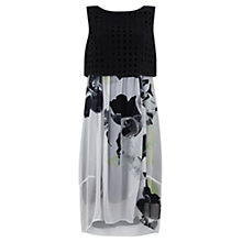 Buy Mint Velvet Orchid Print Cocoon Dress, Multi Online at johnlewis.com