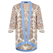 Buy Oasis Pretty Thistle Katrina Kimono, Multi White Online at johnlewis.com