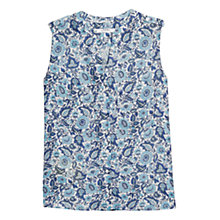 Buy Mango Pocket Printed Blouse, Heron Blue Online at johnlewis.com