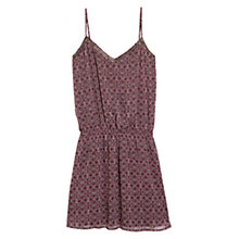 Buy Mango Geometric Print Shift Dress, Rose Garland Online at johnlewis.com