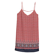 Buy Mango Printed Cotton Dress, Red Online at johnlewis.com