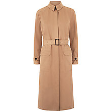 Buy Jaeger Single-Breasted Trench Coat, Camel Online at johnlewis.com