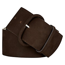 Buy Hobbs Aylesbury Wide Belt, Chocolate Online at johnlewis.com