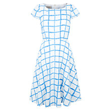 Buy Hobbs Wessex Dress, Cornflower Blue / White Online at johnlewis.com