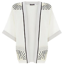 Buy Mint Velvet Beaded Kimono Jacket, Natural Echo Online at johnlewis.com