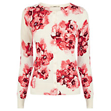 Buy Oasis Beautiful Floral Cardigan, Off White Online at johnlewis.com