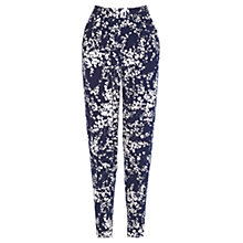 Buy Oasis Clustered Shadow Trousers, Endless Blue Online at johnlewis.com