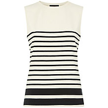 Buy Jaeger Engineered Stripe Tank Top, Multi Ivory Online at johnlewis.com