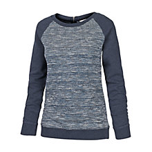 Buy Fat Face Textured Zip Back Crew Cotton Jumper Online at johnlewis.com