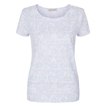 Buy Hobbs Abstract Floral Cotton Tee, White Online at johnlewis.com