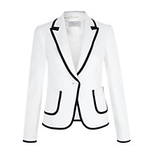 Buy Hobbs Joanna Jacket, White Navy Online at johnlewis.com