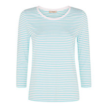 Buy Hobbs Niki Stripe T-Shirt, Spearmint Online at johnlewis.com
