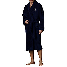 Buy Polo Ralph Lauren Shawl Collar Robe, Navy Online at johnlewis.com