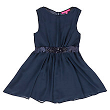 Buy Derhy Kids Girls' Beaded Sash Dress, Marine Online at johnlewis.com