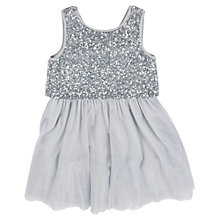 Buy Derhy Kids Girls' Sequin Bodice Party Dress, Silver Online at johnlewis.com