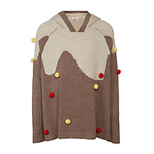 Buy John Lewis Girls' Pudding Poncho, Brown Online at johnlewis.com