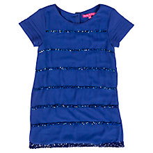 Buy Derhy Kids Girls' Stripe Sequin Jersey Dress, Blue Online at johnlewis.com